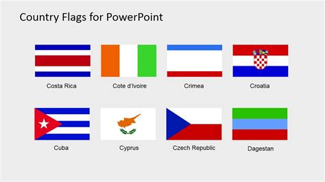 Country Flags Clipart For Powerpoint C To D Slidemodel Flags Of The World Powerpoint