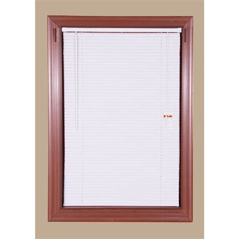 Vinyl Mini Blinds Bali Cut To Size 1 In White Cordless Room Darkening Vinyl