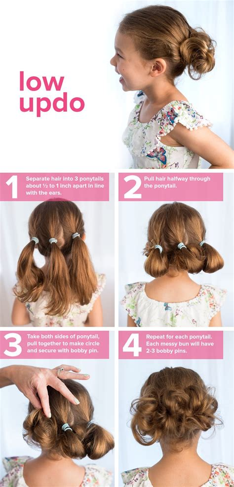 cute hairstyles and how to do it 5 fast easy cute hairstyles for girls low updo