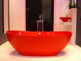 red bathroom suite 100 design