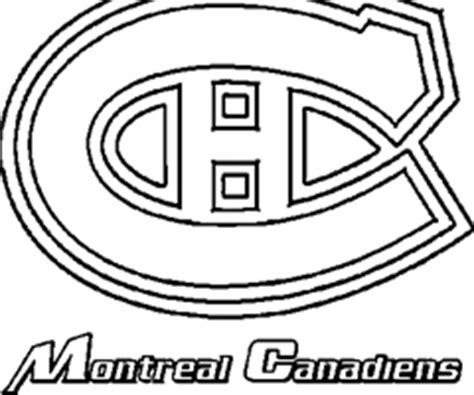 montreal canadiens logo coloring page coloring pages