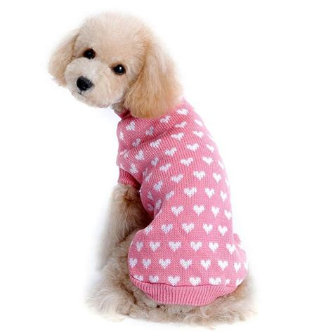 shih tzu sweaters outtop dogs cold weather knitting sweater shirt for small