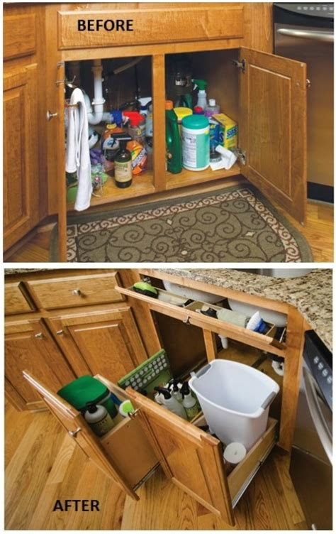 Kitchen Cabinet Space Saving Ideas Remodelaholic Convenient And Space Saving Cabinet Organizing Ideas