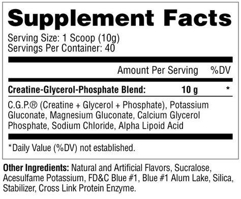 creatine glycerol phosphate metabolic nutrition creatine glycerol phosphate c g p