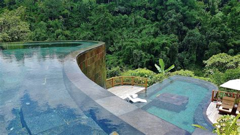hanging infinity pools in bali destination ubud luxury hotel resort hanging gardens