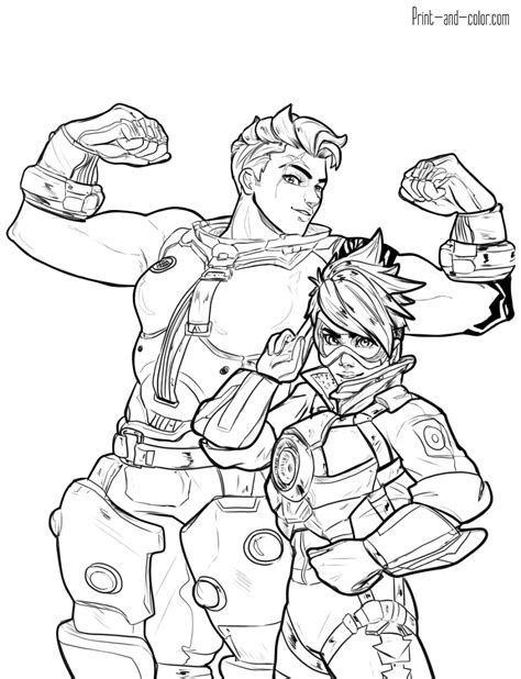 libro overwatch coloring book overwatch coloring pages print and color com
