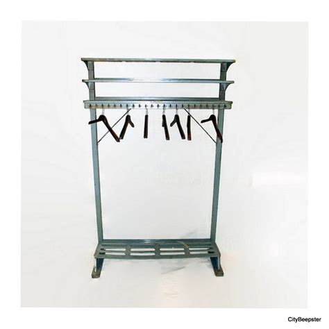 Industrial Coat Rack by Reserved For Vintage Industrial Coat Rack By