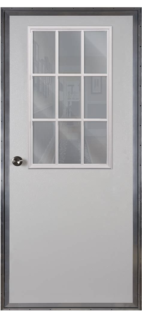 exterior mobile home doors fiberglass 9 lite outswing door american mobile home supply