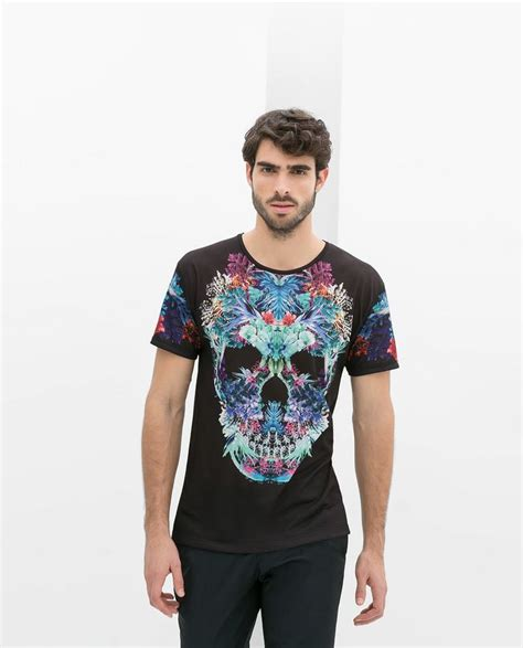 Ee Zara Blouse Rumbai 1 skull t shirt with flowers from zara style for guys style and s fashion