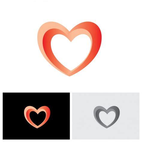 heart pattern logo heart shape logo design vector free download