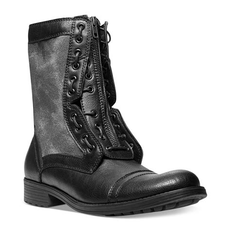 mens steve madden boots steve madden mens shoes listen zip boots in black for