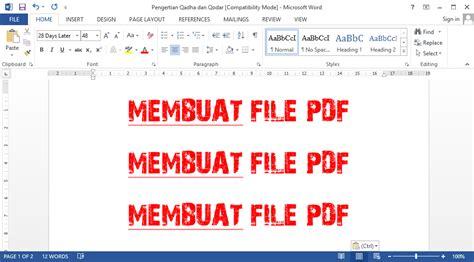 membuat daftar pustaka dari file pdf cara mengubah file word menjadi pdf pada microsoft office
