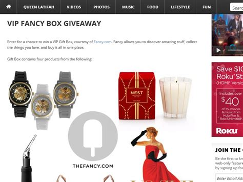 Vip Ticket Giveaway Vacation - the queen latifah vip fancy box giveaway