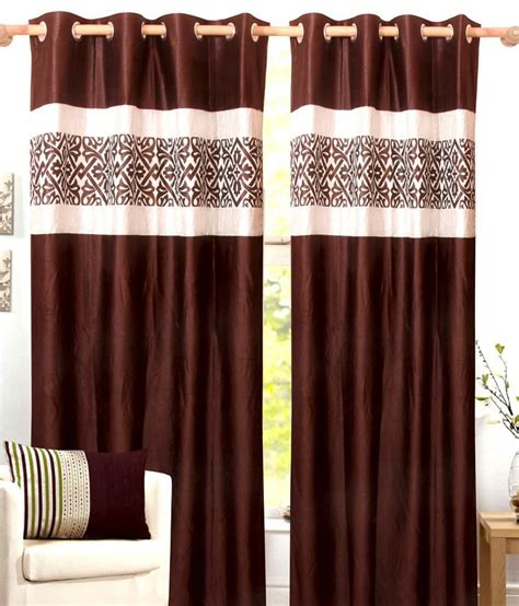 yarn curtains inderjit yarn brown contemporary polyester door curtain