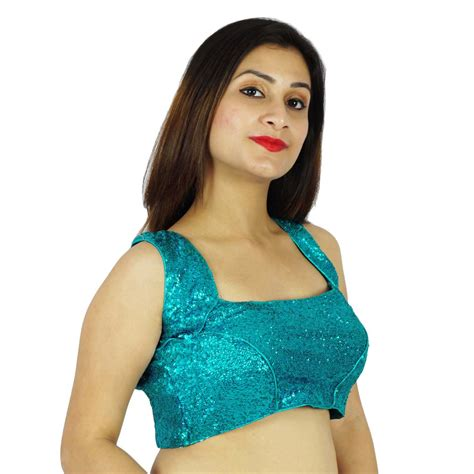 Cheli Blouse new designer readymade partywear stitched sleeveless saree choli blouse ebay