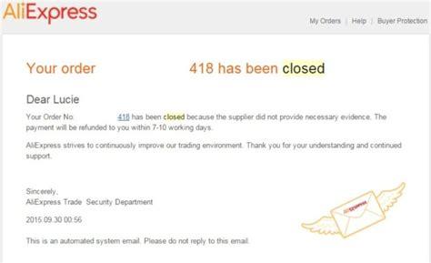 Aliexpress Order Status Closed | 19 vraceni penez z aliexpress zmrazena objednavka česk 253