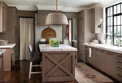 Light Brown Kitchen with Light Brown Kitchen Cabinets Cottage Kitchen Hammersmith Atlanta