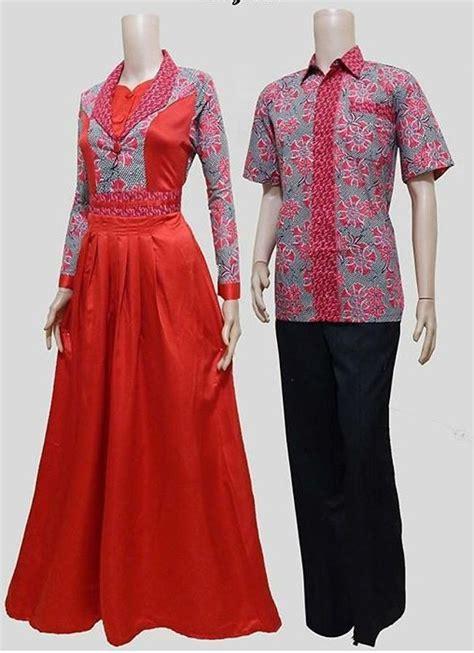 Baju Gamis Batik 2016 Serasi Bersama Pasangan Dengan Model Baju Batik