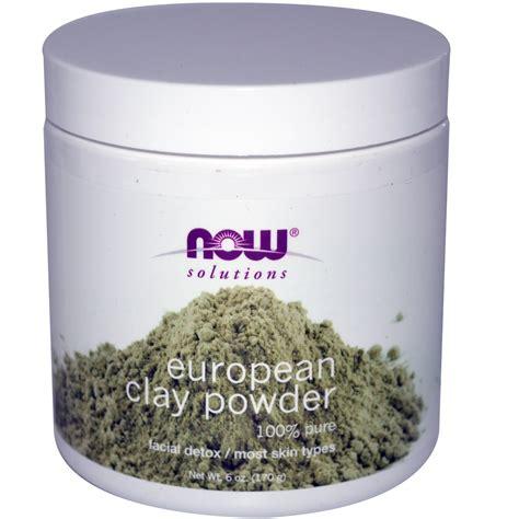 Use Detox Clay Powder by Now Foods Solutions European Clay Powder 6 Oz 170 G