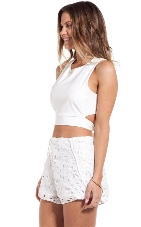 Shopping With Andra Tie Me Up In A Pretty Bow Second City Style Fashion by Tie Me Up Crop In White Showpo Fashion Shopping