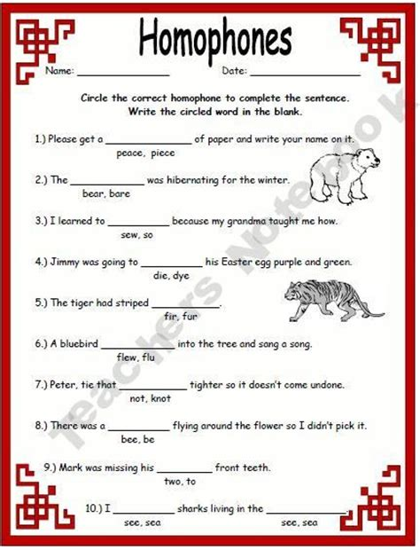 printable homophone quiz homonyms homophones activities word study pinterest
