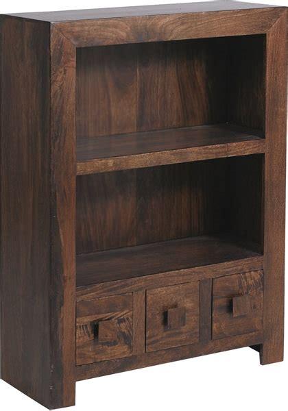 Bookcase Dakota 1 buy jaipur furniture dakota walnut bookcase small 1 shelf 3 drawers cfs uk