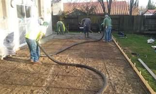 pouring concrete patio walley concrete