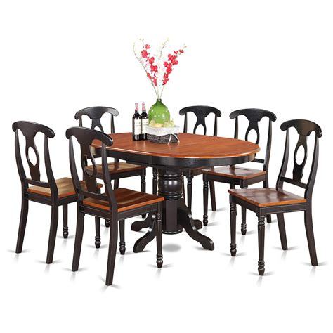 7 Pc Dining Room Set 7 Pc Dining Room Set Oval Dining Table And 6 Dining Chairs