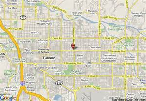 map of varsity clubs of america tucson tucson