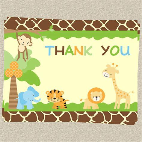 Safari Baby Shower by Jungle Thank You Cards Baby Shower Birthday Safari