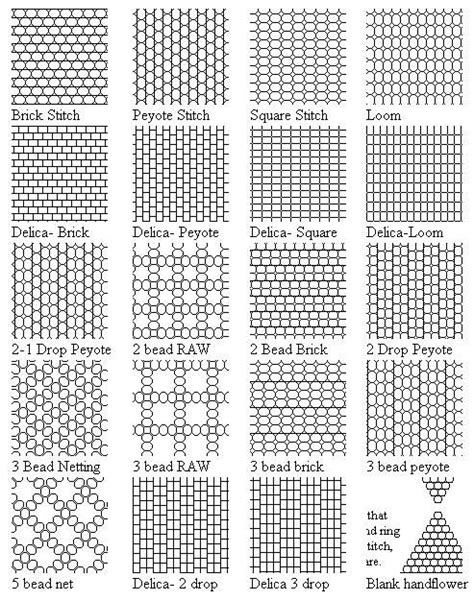 pattern types different types of seed bead graph paper beading
