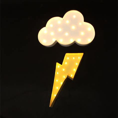 cloud 9 night light aliexpress com buy white cloud lightning ray led