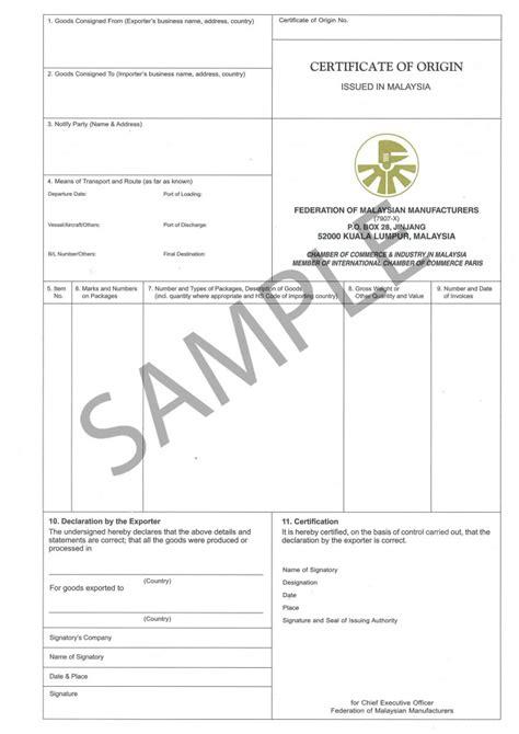 Certificate Of Origin Letter Of Credit Export And Import Procedure In India