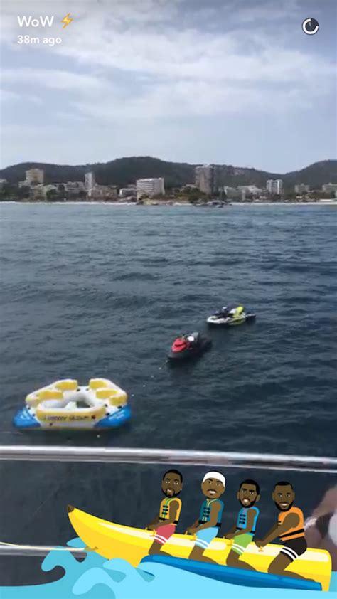 lebron banana boat total pro sports dwyane wade has snapchat banana boat filter