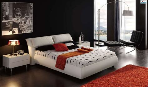White Leather King Bedroom Set by Modern Italian Bedroom Furniture In Toronto Mississauga