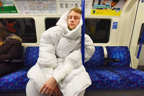 out of bed can t get out of bed take it along with this wearable duvet