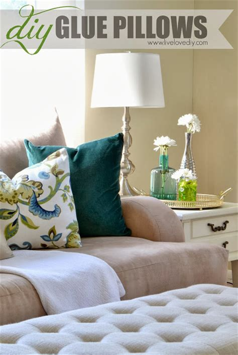 How To Make Your Own Pillow by How To Make Your Own Pillows Using Only Fabric Glue A