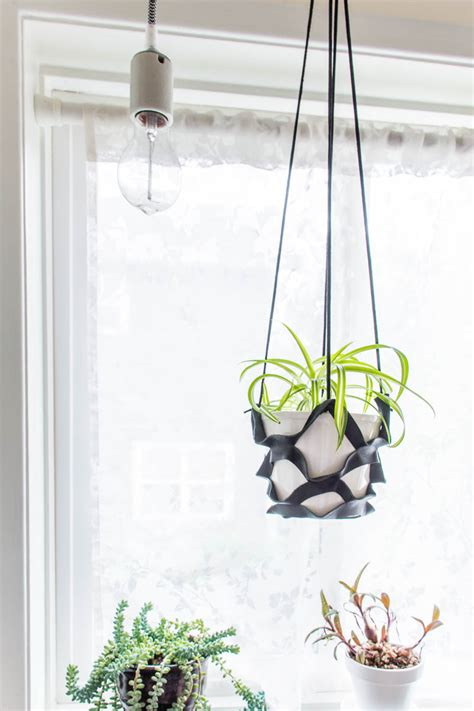 Diy Plant Hanger - diy leather plant hanger