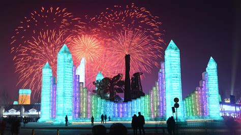 ice city enormous ice city appears in china for harbin festival