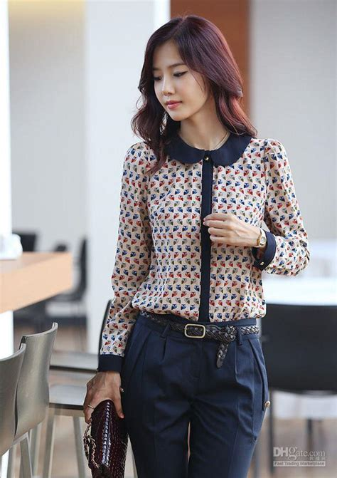 New Blouse Spandek Ceruty Korea 2018 fashion 2013 blouse new korean version of the doll collar floral blouse and top from