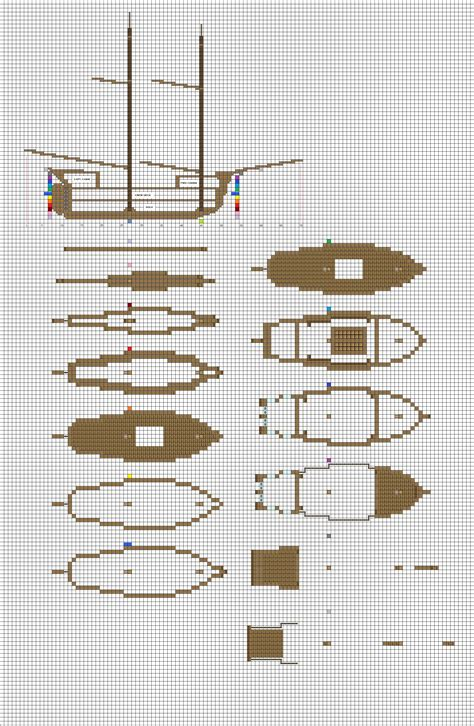 minecraft layout maker minecraft sailing brig plans pg1 hull by coltcoyote on