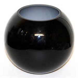 globe bowl black glass vase style 1 ten and a half