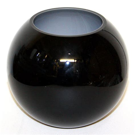 Black Glass For Vases by Globe Bowl Black Glass Vase Style 1 Ten And A Half