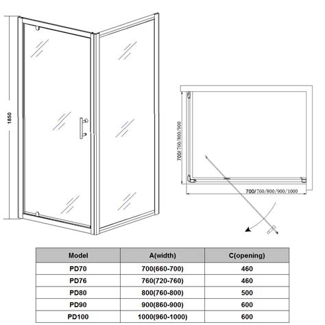 Glass Shower Door Sizes Pivot Hinge Shower Door Enclosure Glass Screen Cubicle Side Panel Tray Ebay