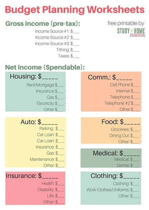 25 best ideas about monthly budget printable on