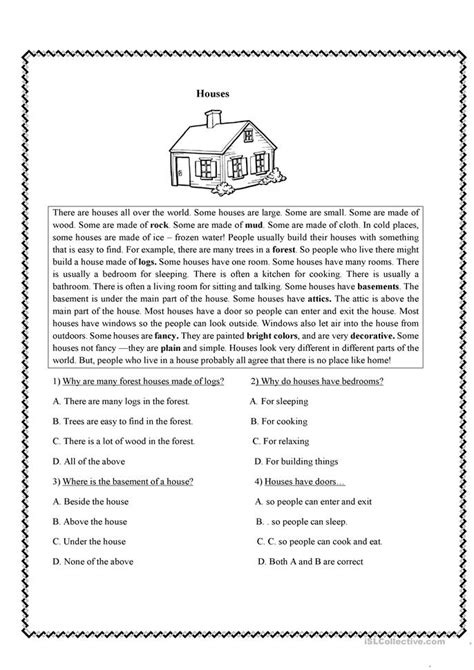 Worksheets For High School by Reading Comprehension Worksheets High School