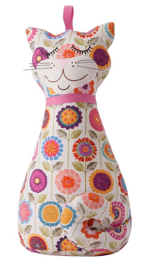 cat door stopper pattern ulster weavers cotton cat shaped door stop crazy flower