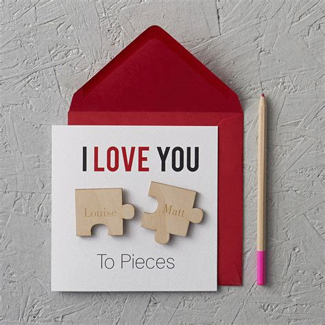 I Love Gift Cards - i love you to pieces magnets anniversary card by clouds