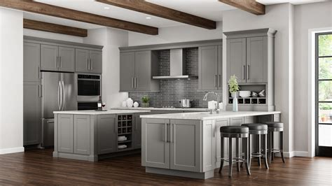 wall cabinets for kitchen shaker wall cabinets in dove gray kitchen the home depot