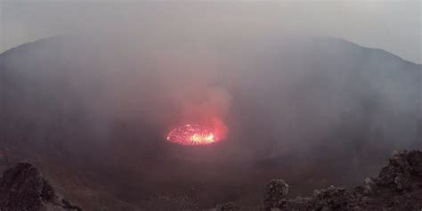 world s largest lava l largest lava lake at nyiragongo volcano business insider